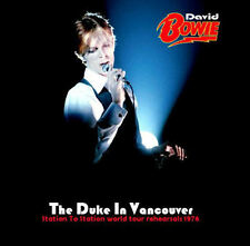 DAVID BOWIE – 'THE DUKE IN VANCOUVER' TOUR REHEARSALS 1976 JAPANESE 2 DISC SET