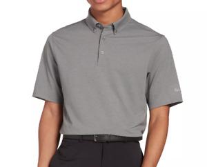 Walter Hagen Golf Polo Mens Authentic 11 Majors Pique Sun Protection Silver Grey