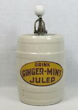 Ginger-Mint Julep Crock Jug Countertop Syrup Pump Dispenser Emerson Drug A2547