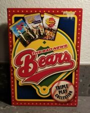 Bad News Bears Triple Play Collection (3 DVD Set w/Slipcover) Free Shipping  LN