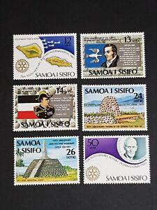 Samoa: Anniversaries; complete unmounted mint set; John Williams