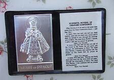 Catholic Pocket Folder w/ INFANT JESUS of PRAGUE metal picture & novena prayer