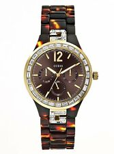 New Authentic Guess Multi function Tortoiseshell Ladies Watch U0078L1 , with TAG