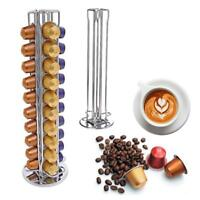 40 Rotating Capsule Coffee Pod Holder Tower Stand Rack for Nespresso Revolving