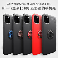 Soft Slim TPU Metal Stand Case Cover For iPhone 11 /Pro /Max X XS XR  6 7 8 Plus