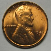 1947-S Lincoln Wheat Cent in the CH BU Range Nice Coins DUTCH AUCTION