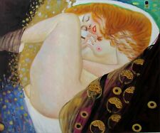 Gustav Klimt Danae Repro, Quality Hand Painted Oil Painting, 20x24in