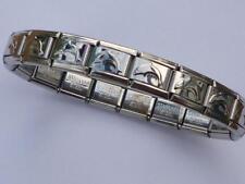 ITALIAN CHARM SILVER DOLPHIN FISH STARTER BRACELET fits all Italian bracelets