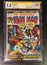 Iron Man #55 CGC SS 7.5 Infinity War First App Thanos Drax National Diamond Var