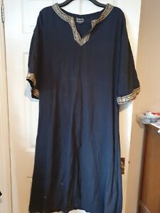 Larp Medieval Tunic Shirt Viking Reenactment Fancy Dress XXXL Black