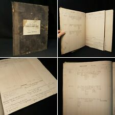 1921/22 Farmers Diary *113 Hand Written Pages* Ipswich Uk Manuscript Farming