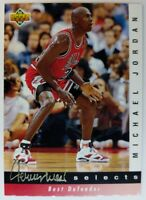 1992-93 Upper Deck Michael Jordan Best Defender, #JW4, Jerry West Selects, Bulls