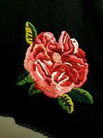 Comfort VIOLA Black WOOL Blend Pink ROSE Women's Size L Large  A-LINE Knit Skirt