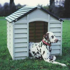 Kennel for Dog Dogs Resin cm 78x84x80h Light Grey Green Garden