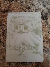 Johnny Unitas 2017 Absoulute 1/1 Yellow Printing Plate Colts !!!!!