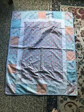 """Vintage Baby Quilt - Rubber Duckies, Pink Elephants - 46x37"""""""