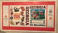 Vintage 1973 Georgia Bulldogs Football Book Cover Collectibles Souvenir