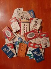 Vintage Cigarette Rolling Papers Tip Top, B&W red & blue, Prince Albert, Kite