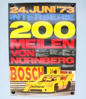 Poster 200 Meilen von Nürnberg Norisring 1973 Plakat Porsche Bosch ADAC