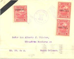 HONDURAS 1913 - CV FROM PRESIDENT TO CONSUL IN USA --- F/VF