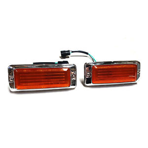 MAZDA RX3 808 FRONT GUARD BLINKERS INDICATORS AMBER