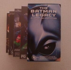 The Batman Legacy VHS Box Set 1999 Gift Set Rare Classic 4 Movies