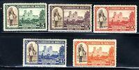 1943 BOLIVIAN 5-STAMP SET General Jose Ballivian & Cathedral 🔥 SC297-01 MNH OG