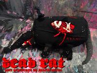 """Original JUSTIN AERNI circa 2021 Soft Sculpture plush dark art : """"DEAD RAT"""""""
