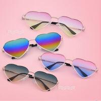 Women Love Heart Shape Eyeglasses Cat Eye Metal Frame Sunglasses Eyewear Glasses
