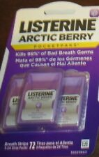 1 pack of 3x24 Listerine Arctic Berry Pocketpaks 72 Strips Total DISCONTINUED