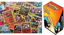 Pokemon 100 CARD LOT: In a Collector's Charizard Deck Box Common + Ex Ultra Rare