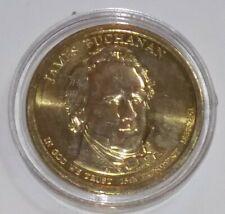 2010 James Buchanan - Presidential Dollar Coin - $1 Coin USD + COIN CAPSULE!