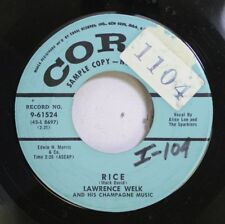 50'S & 60'S Promo 45 Lawrence Welk - Rice / It'S Almost Tomorrow On Coral