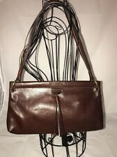 Celine Burgundy Equestrian Style Bag With Strappy Braided Handle Tasseled