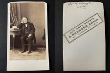 Barrère, Paris, Le politicien Claude Alphonse Delangle Vintage cdv albumen print