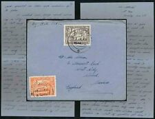 ADEN 1948 SHIP ATLANTIS AIRMAIL to WIRRAL GB 8A + 2A + LETTER to WILSON