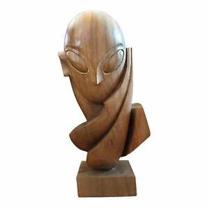 """1990s """"Untitled, Not Brancusi"""" Carved Mahogany Sculpture Attributed 2 Mike Bidlo"""