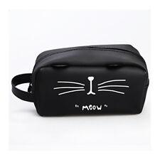 Silicone Cat Makeup Cosmetic Case Pen Pencil Bag Zipper Coin Pouch Purse