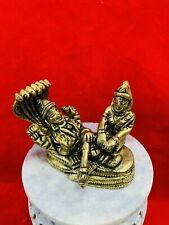 Brass metal  lord vishnu and lakshmi laxmi 2 inch height  USA Seller fast ship