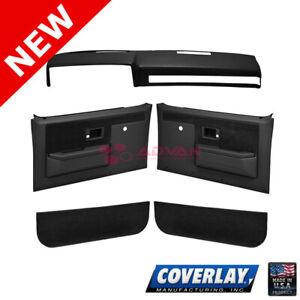 Black Door Panel Dash Cap Kit 18-601CN-BLK For Blazer K5 Coverlay
