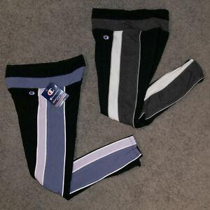 Champion Color Block Running Yoga Pants Women's Size XS Purple Black White (x2)