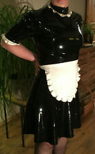 Latex Kleid French Maid Dress, Zofe Dienstmädchenkleid in Gr.M - L