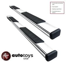 """15-16 GMC Canyon Crew Cab Stainless 4"""" Side Steps Running Boards Nerf Bars"""