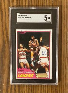 1981-82 TOPPS MAGIC JOHNSON #21 SGC  5 ~ Los Angeles Lakers 2nd Year! 🔥