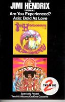 Jimi Hendrix Are You Experienced & Axis Bold As Love 1982 Cassette Classic Rock