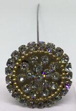 Hat Pin Large Steam - Rhinestones Top Vintage (C511)