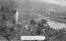 PARKERS GLAN FOUNTAIN NEAR TWIN LAKES PENNSYLVANIA DEXTER PRESS POSTCARD (1940s)