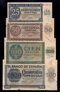 F.C. 4 BILLETES 1936 .