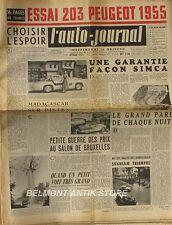 L'Auto-journal n°119 - 1955 -Sunbeam Rallye Monte Carlo - Peugeot 203 - Fangio
