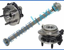 """New Complete Driveshaft Assembly + Front Wheel Hubs - 24"""" Weld to Weld - 4x4"""